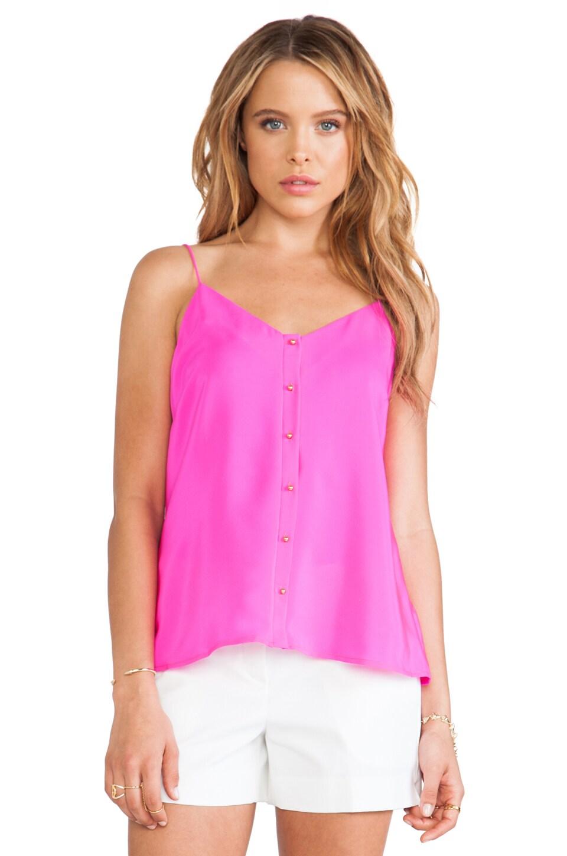 Amanda Uprichard Gold Ball Cami in Hot Pink