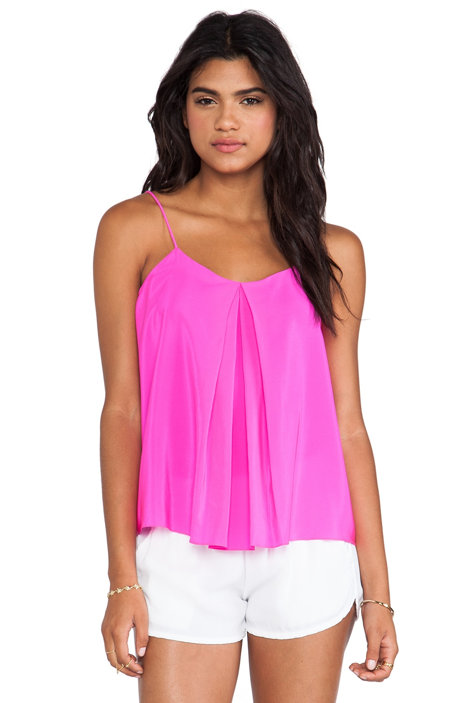 Amanda Uprichard Summer Cami in Hot Pink