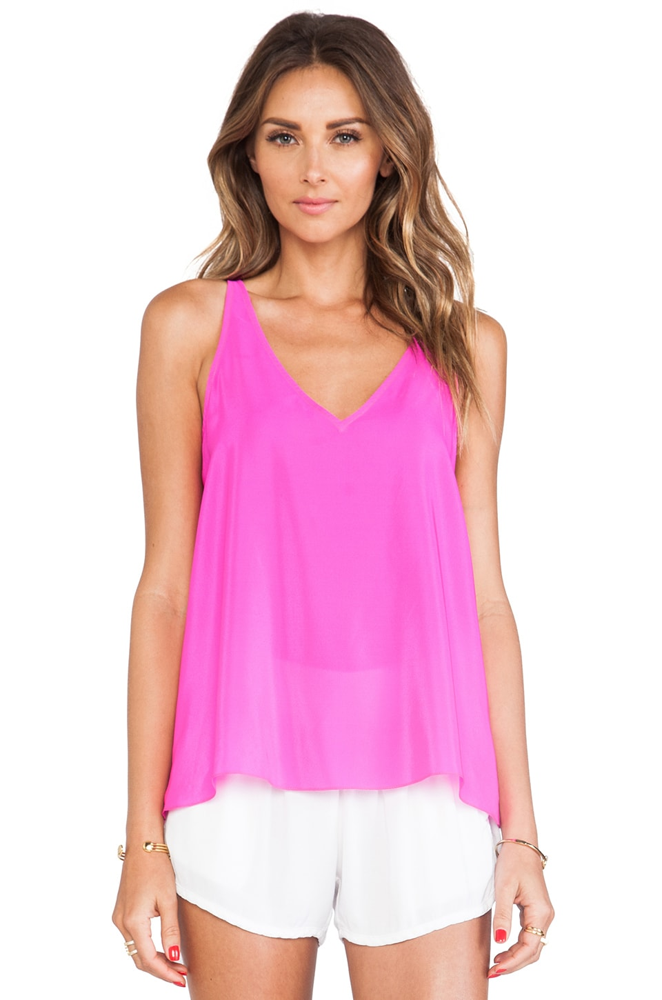 Amanda Uprichard Malibu Tank in Hot Pink