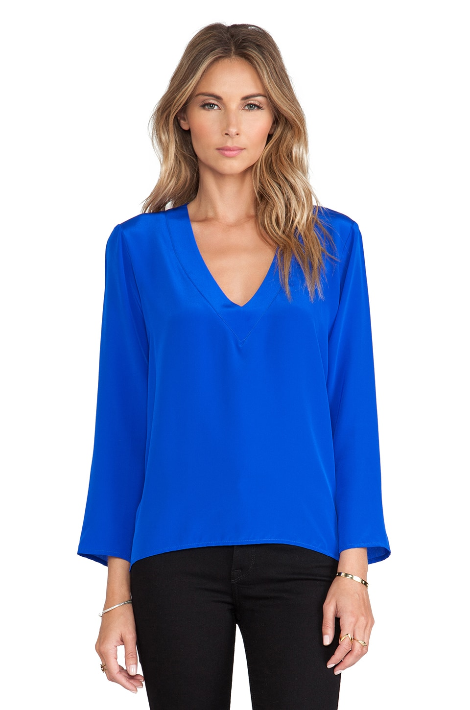 Amanda Uprichard Laurel Top in Royal
