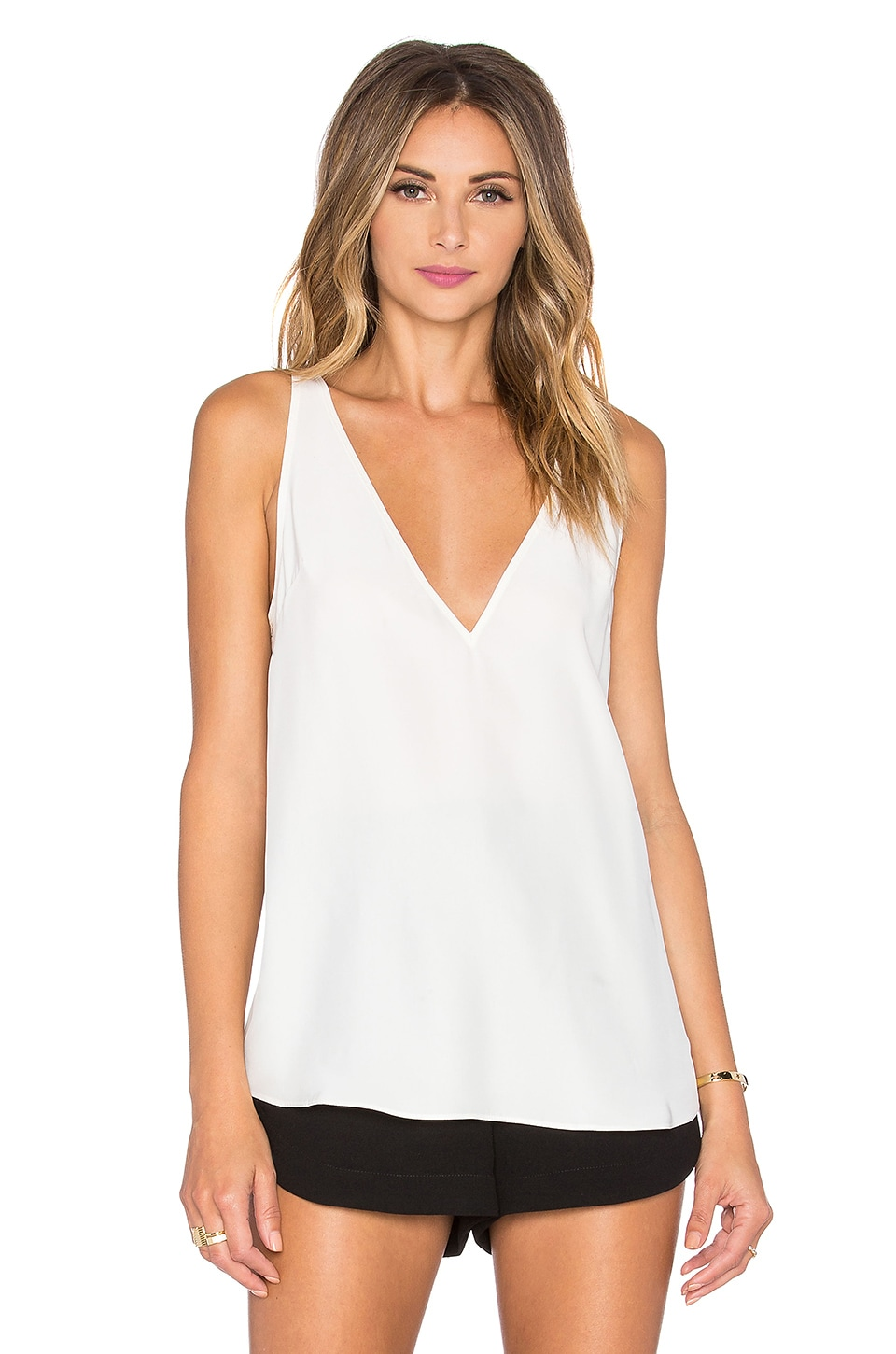 Amanda Uprichard Vita Tank in Ivory