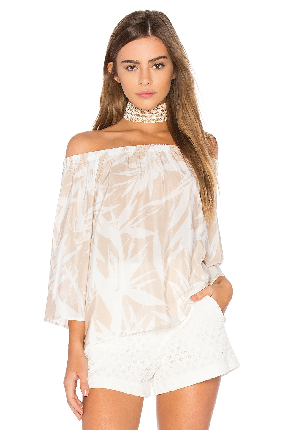 Amanda Uprichard Nirvana Top in Desert Palm