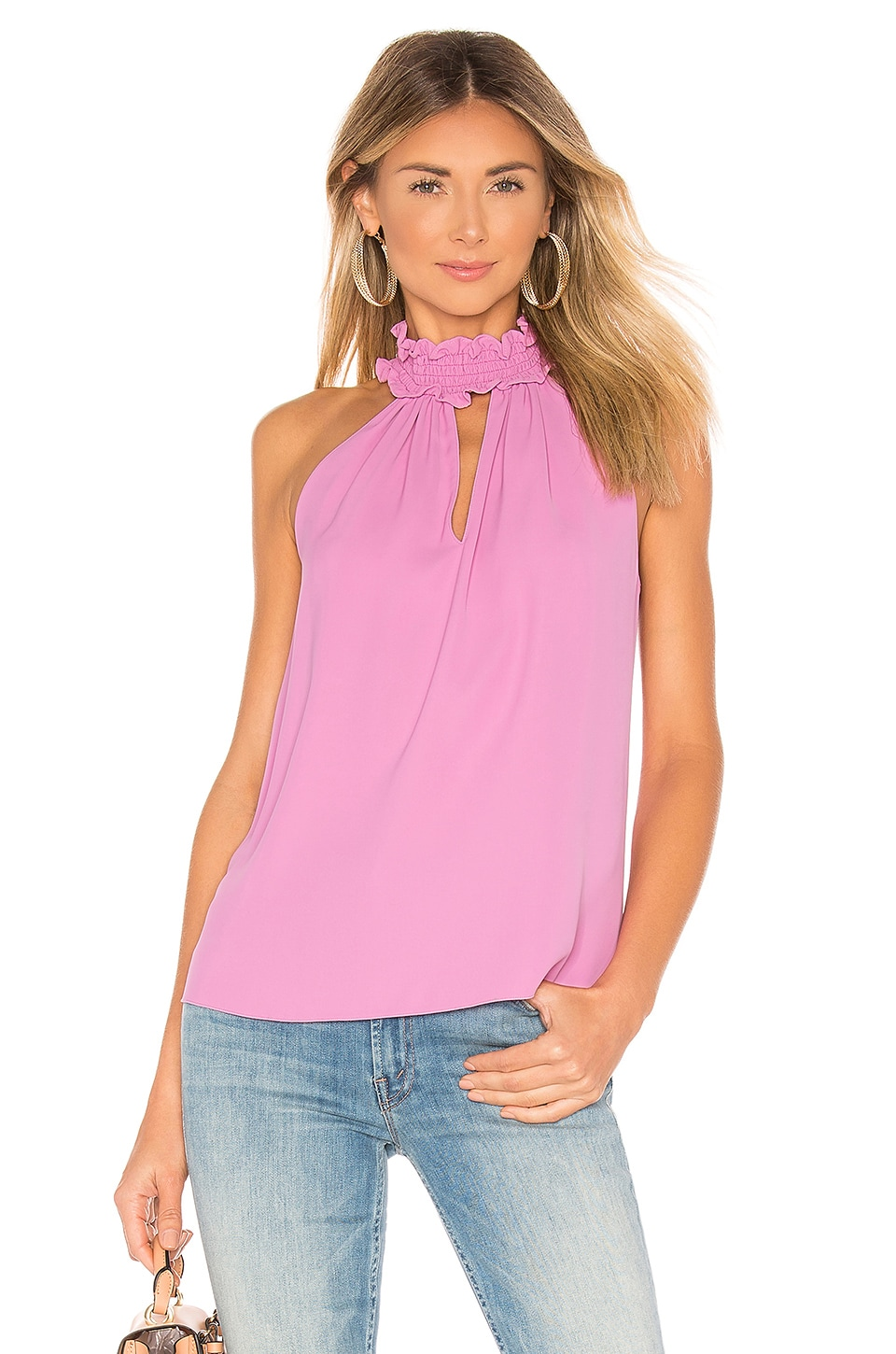 Amanda Uprichard Talita Top in Pompei Pink