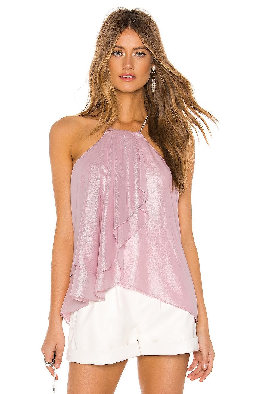 Amanda Uprichard Cascade Top in Pink Glitter