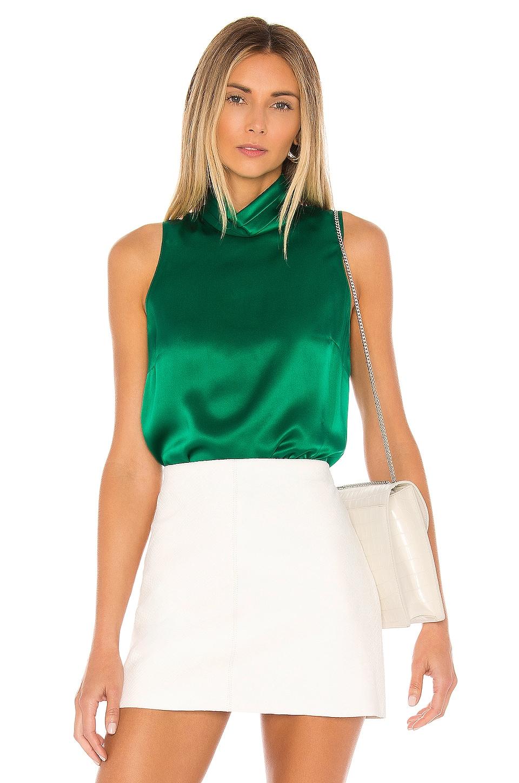Amanda Uprichard Fleurette Top in Dark Green