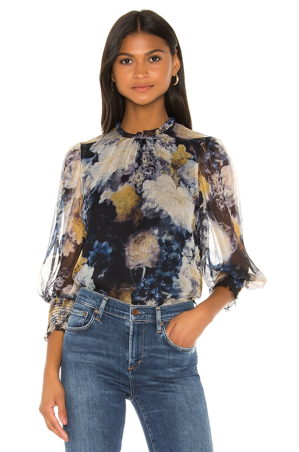 Amanda Uprichard Helene Top in Midnight Dream
