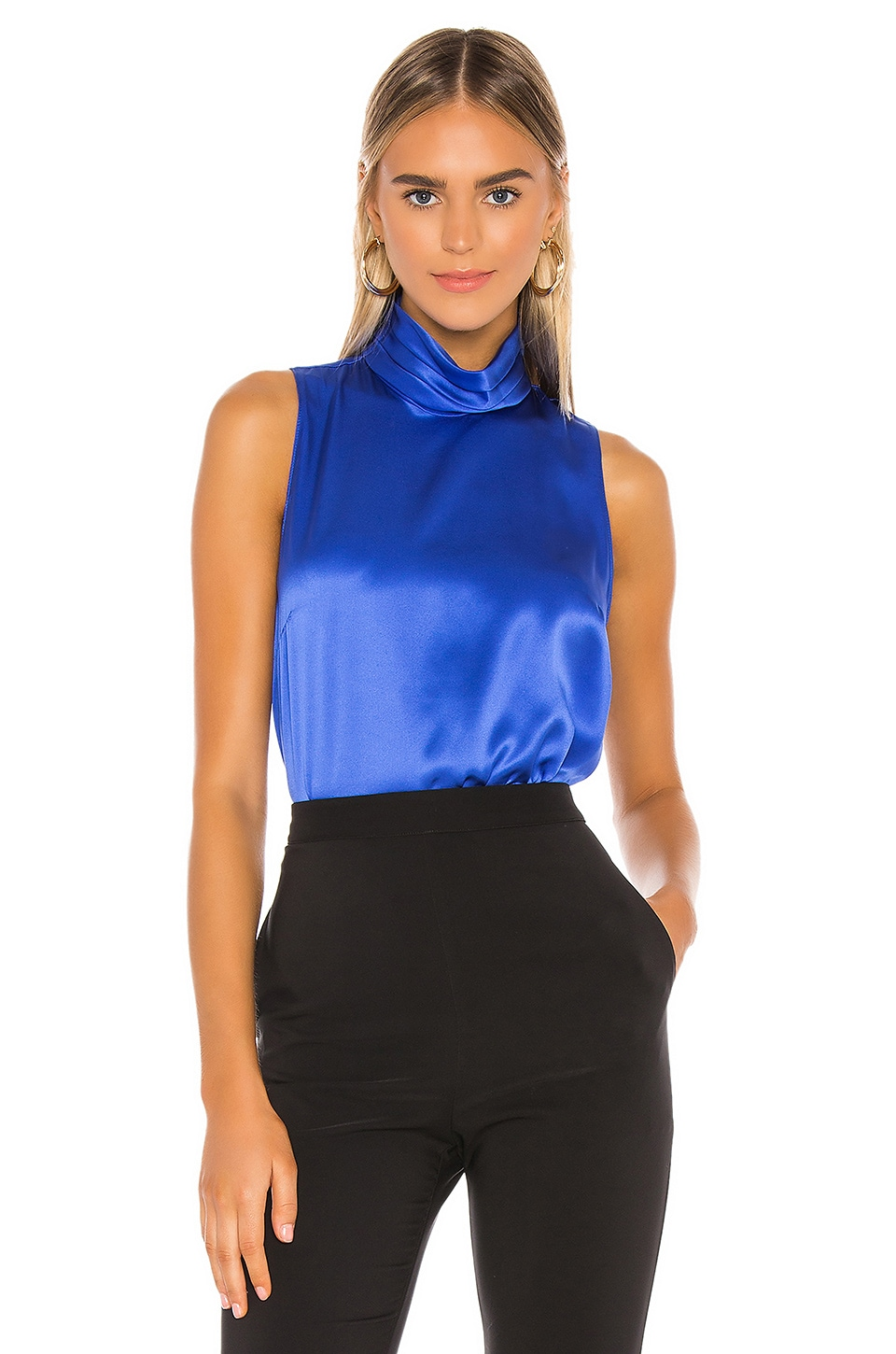 Amanda Uprichard Fluerette Top in Cobalt