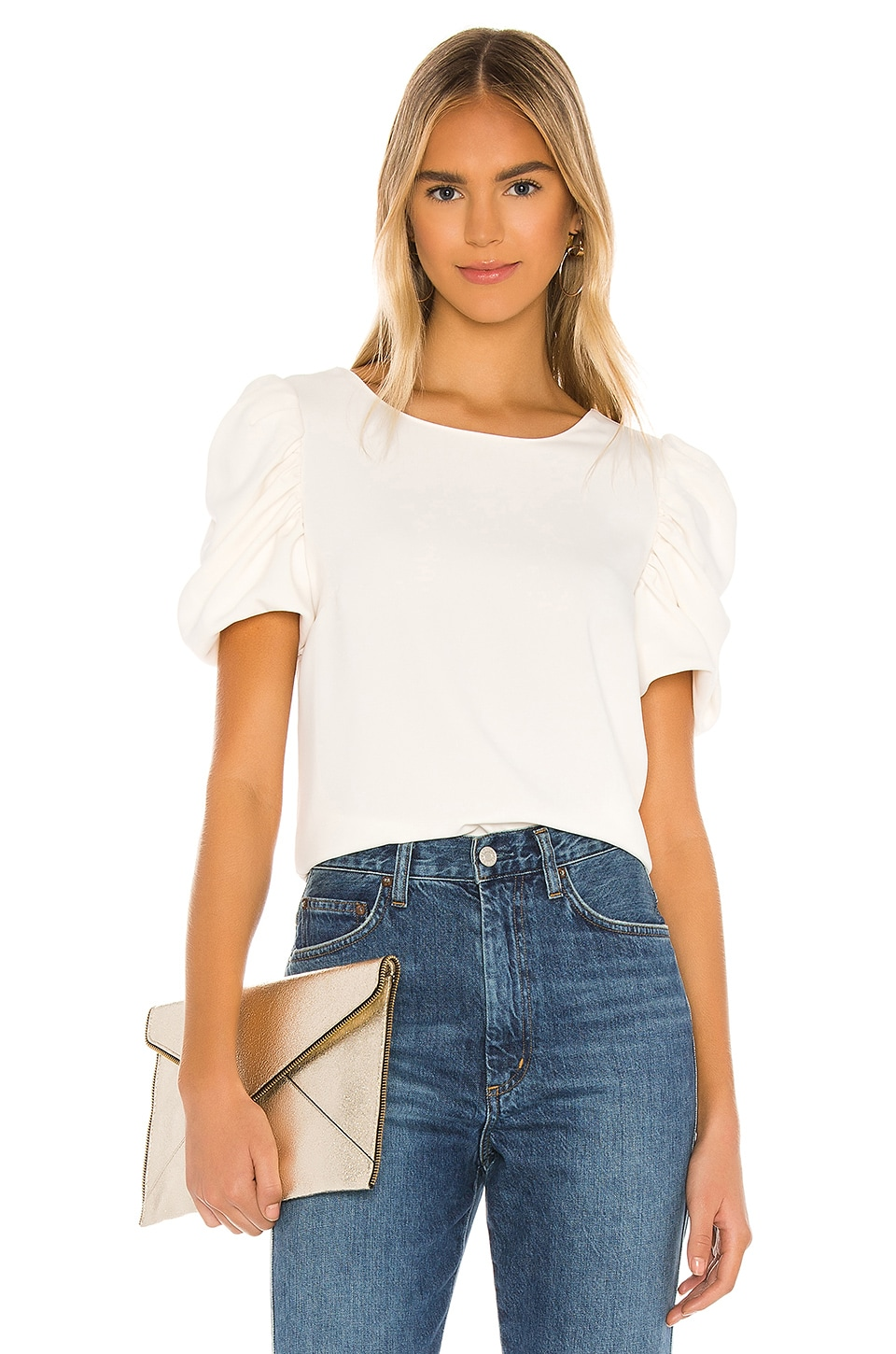 Amanda Uprichard Merris Top in Ivory