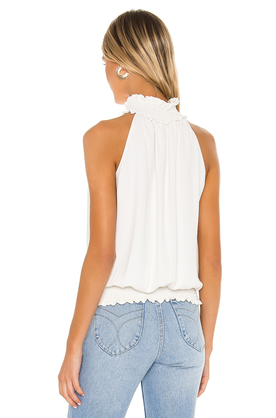 Kimmie Mock Neck Top, view 3, click to view large image.
