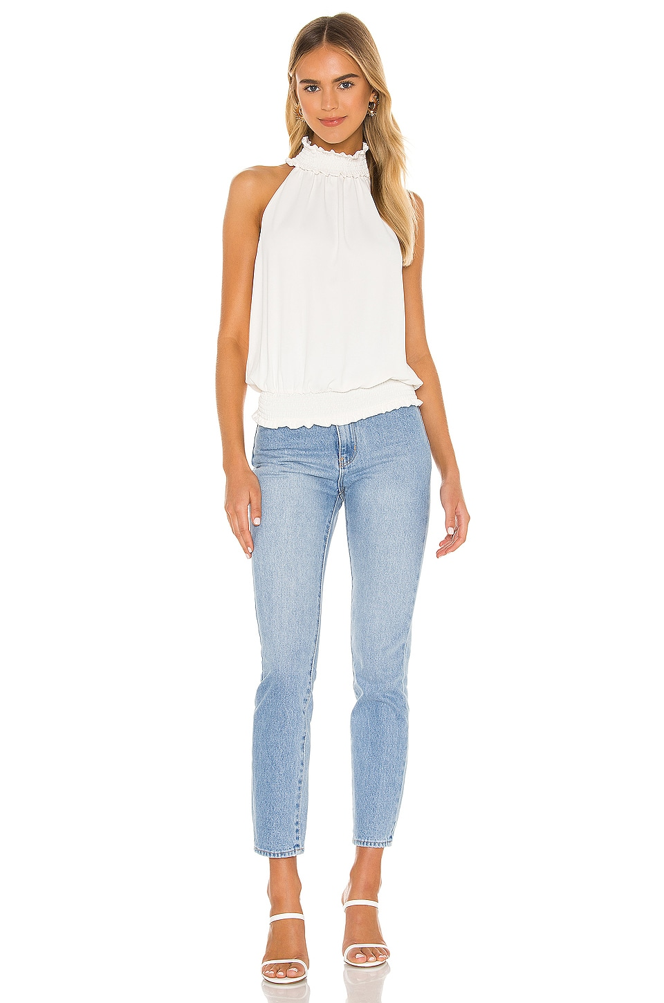 Kimmie Mock Neck Top, view 4, click to view large image.