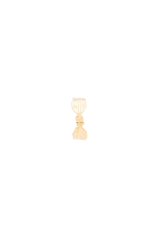 Amarilo Pluma Ear Cuff in Metallic Gold TA37gwA9