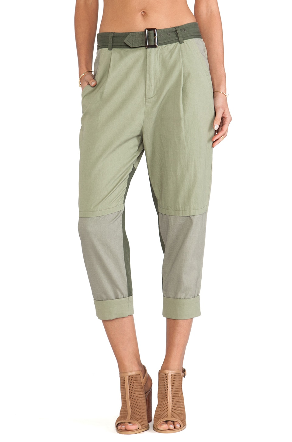 April, May Lhasa Pant in Khaki