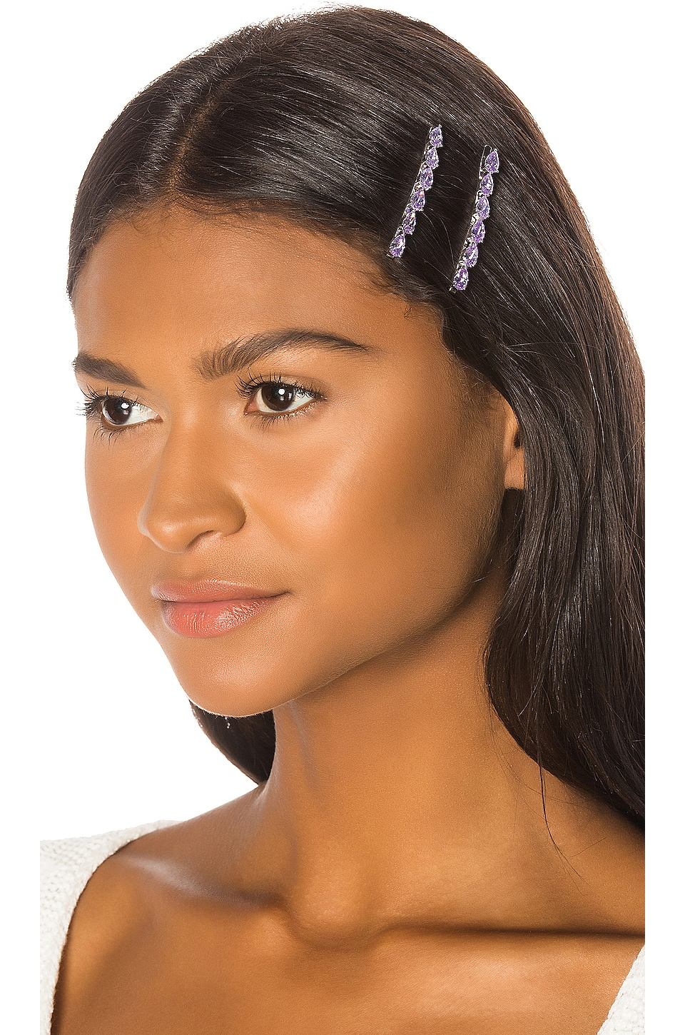 Amber Sceats Rachelle Hair Clip Set in Lavender