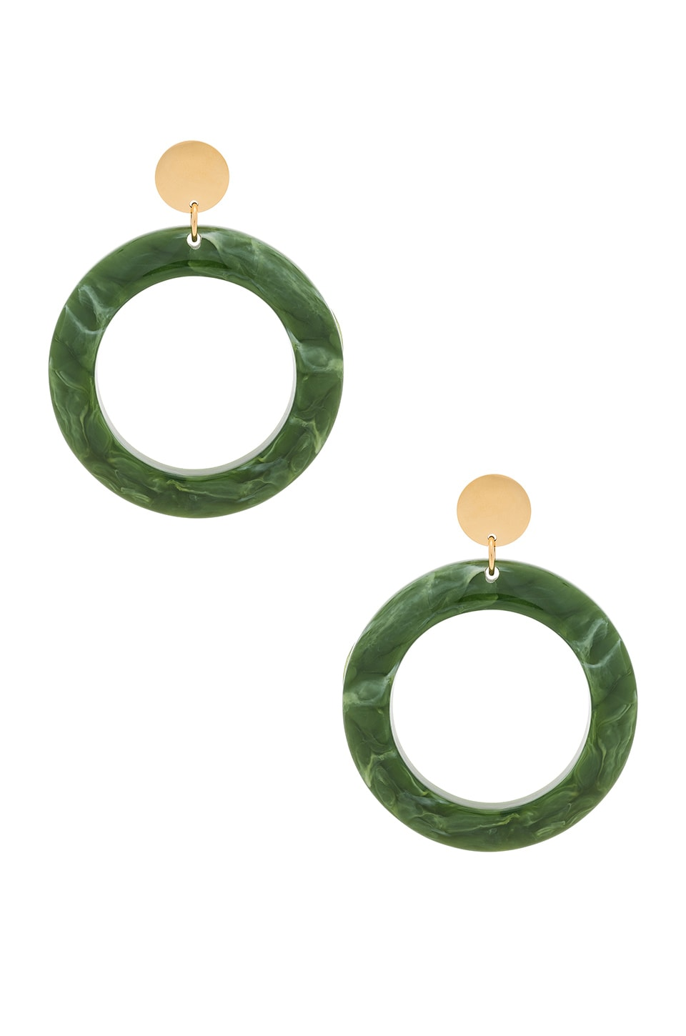 AMBER SCEATS Cairo Earrings in Green