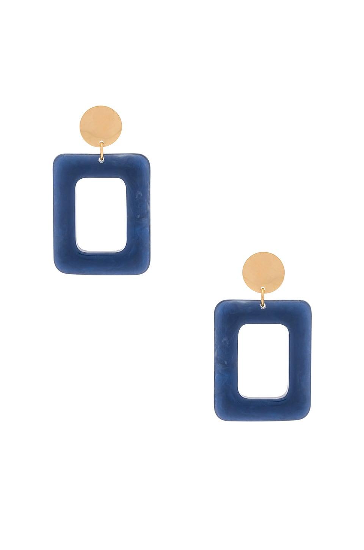 AMBER SCEATS Milan Earrings in Blue