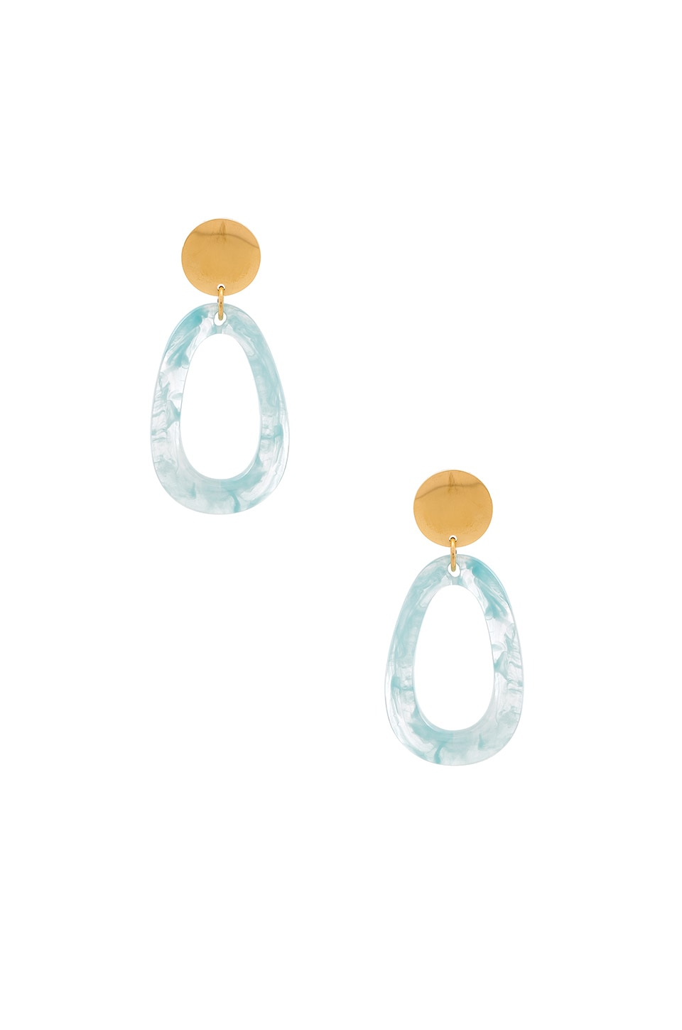 Amber Sceats Geneva Earrings in White & Blue Marble