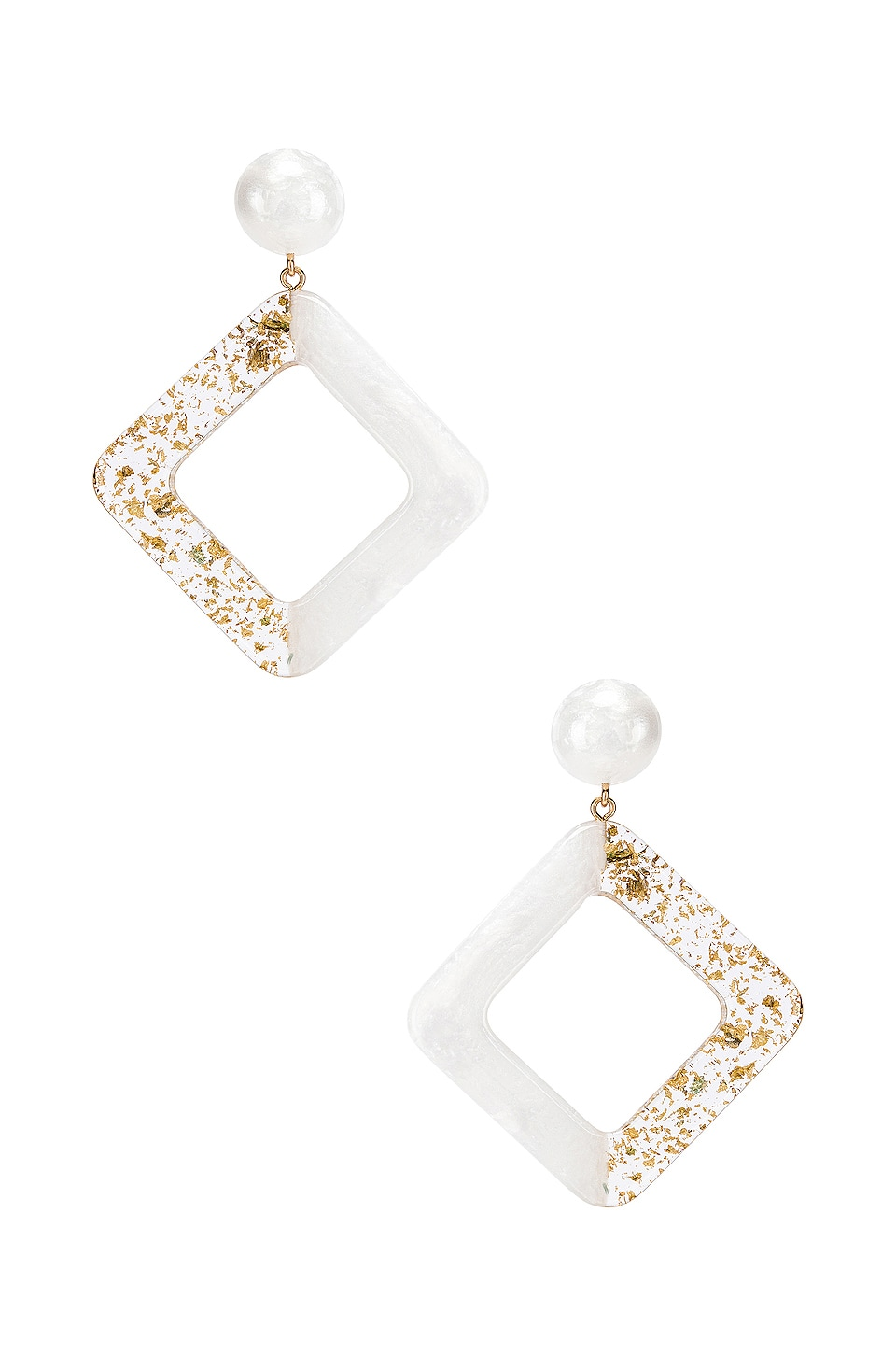 Amber Sceats Jetta Earrings in White