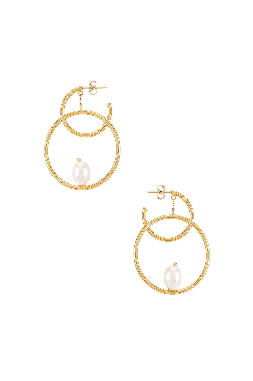 Amber Sceats Double Hoop Earring in Gold