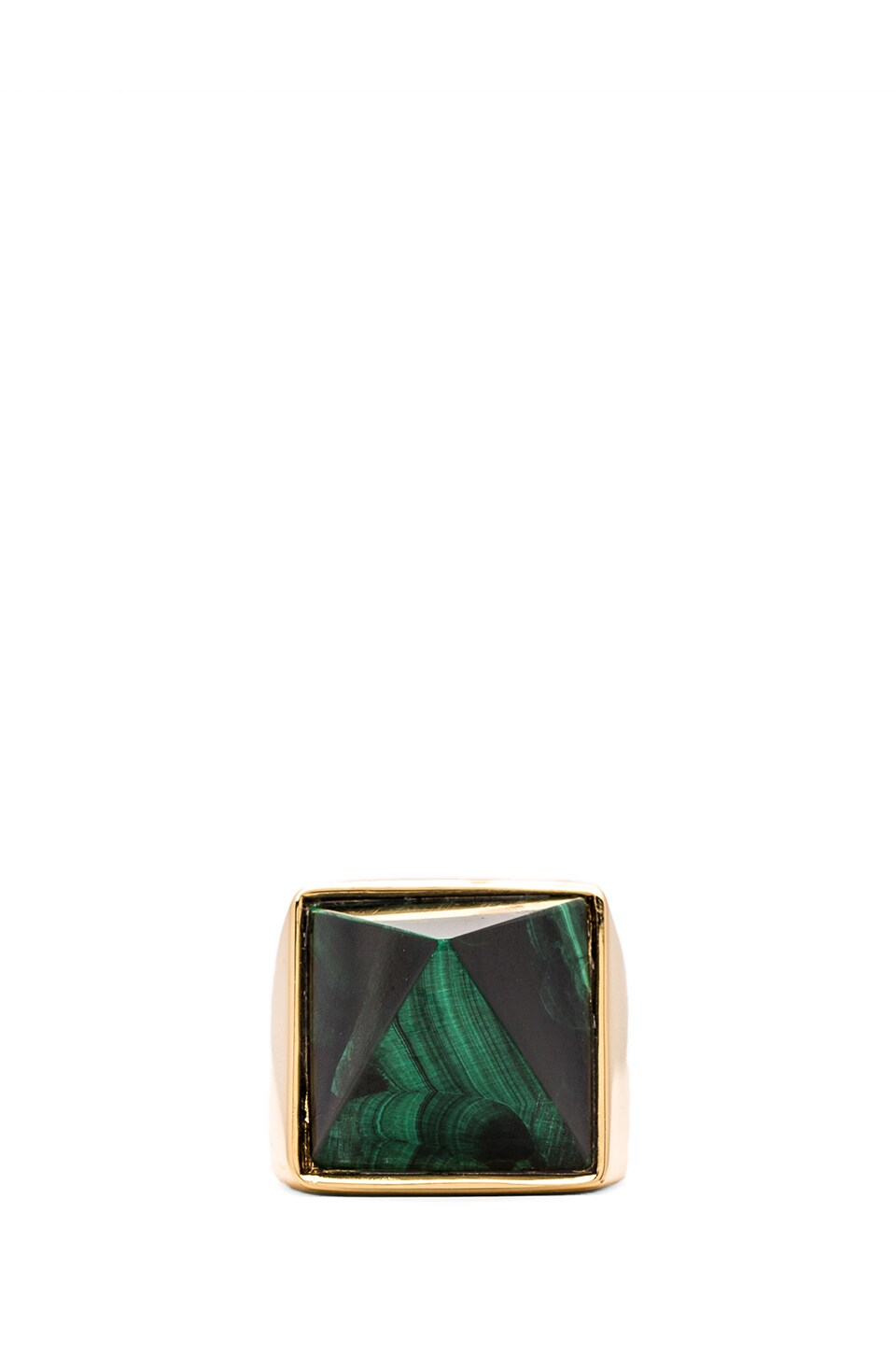 Amber Sceats Prediction Ring in Gold & Malachite Crystal