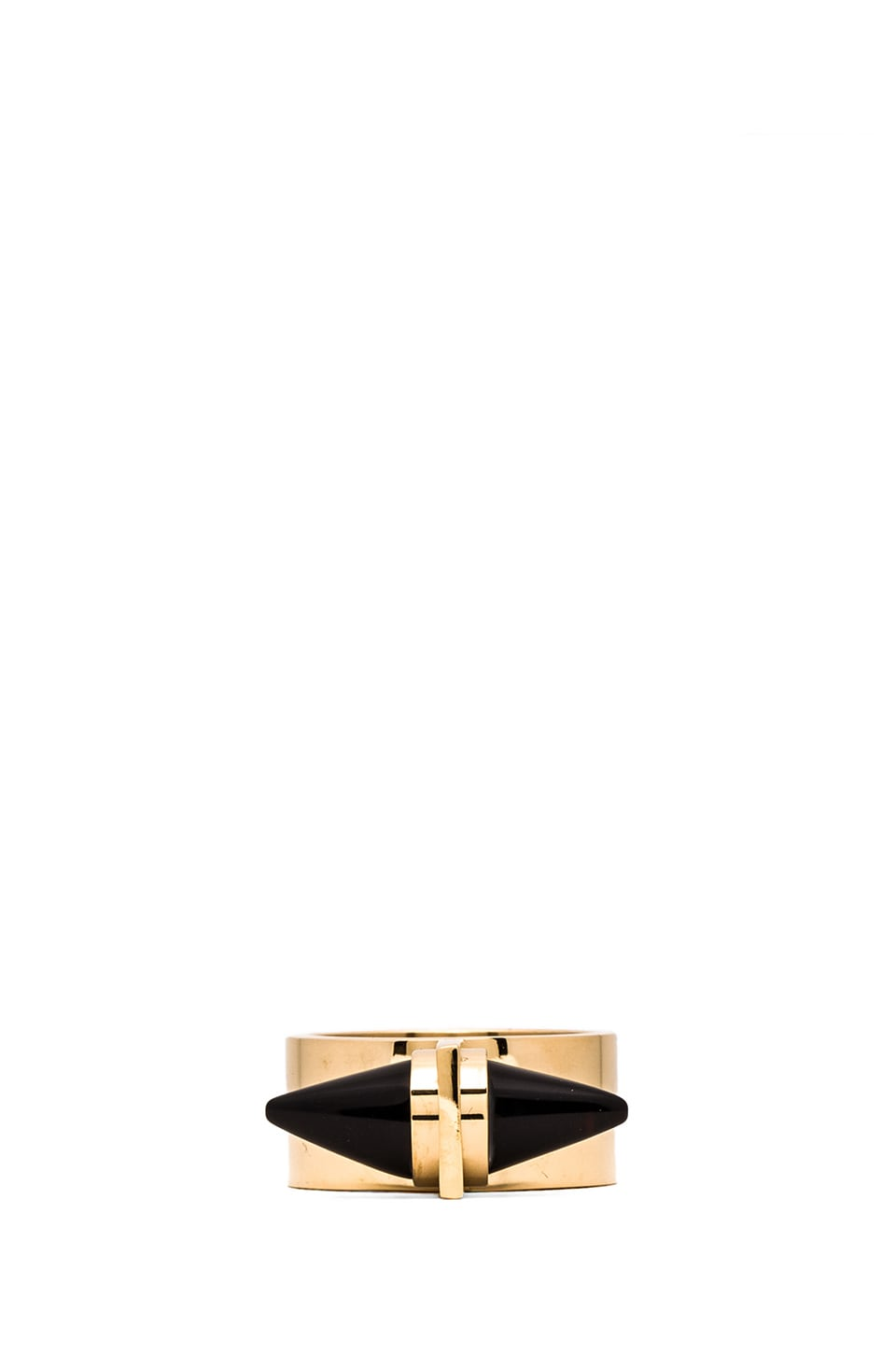 Amber Sceats Alexia Ring in Black & Gold