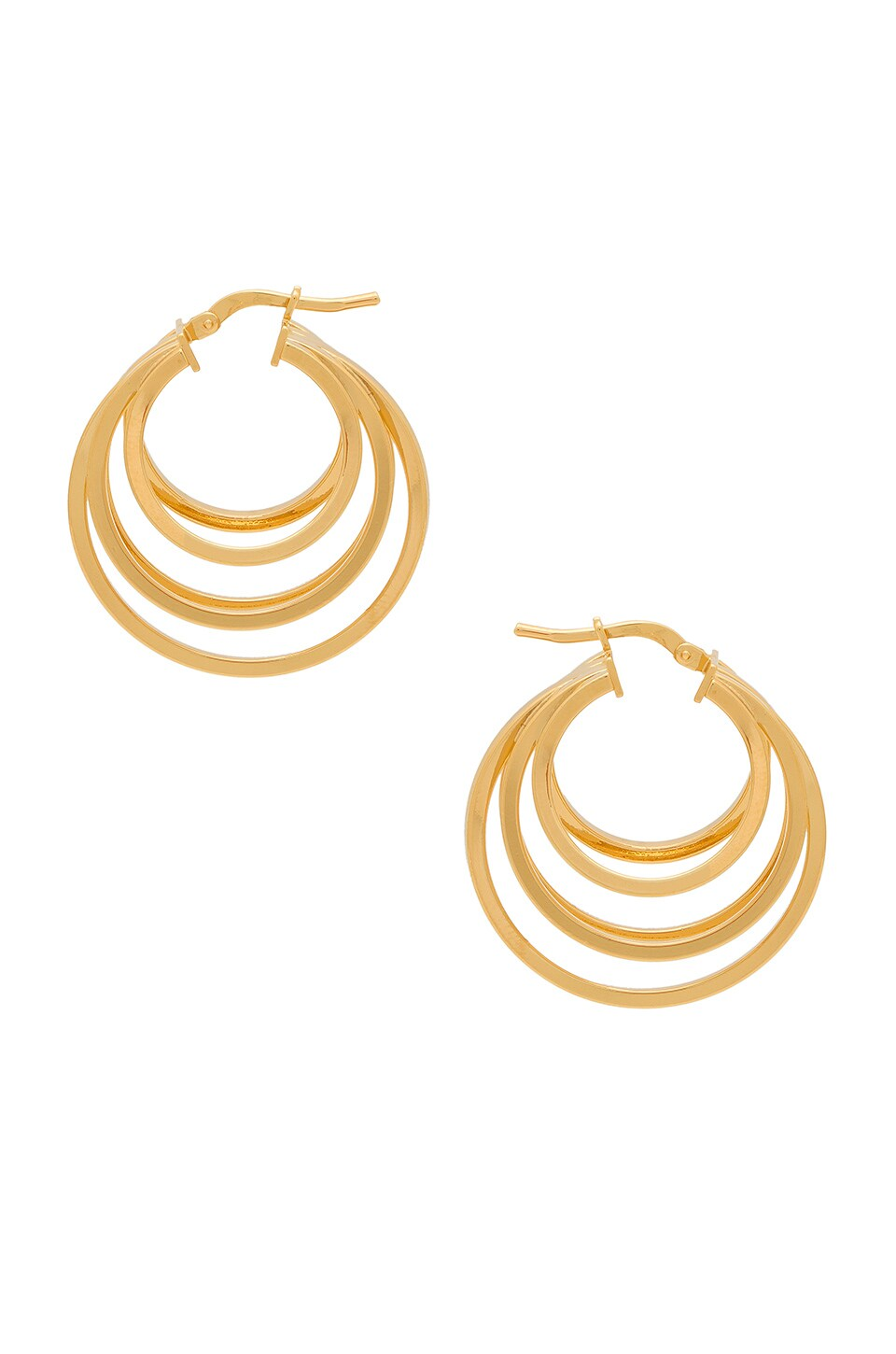 AMBER SCEATS Kenzie Earring in Metallic Gold