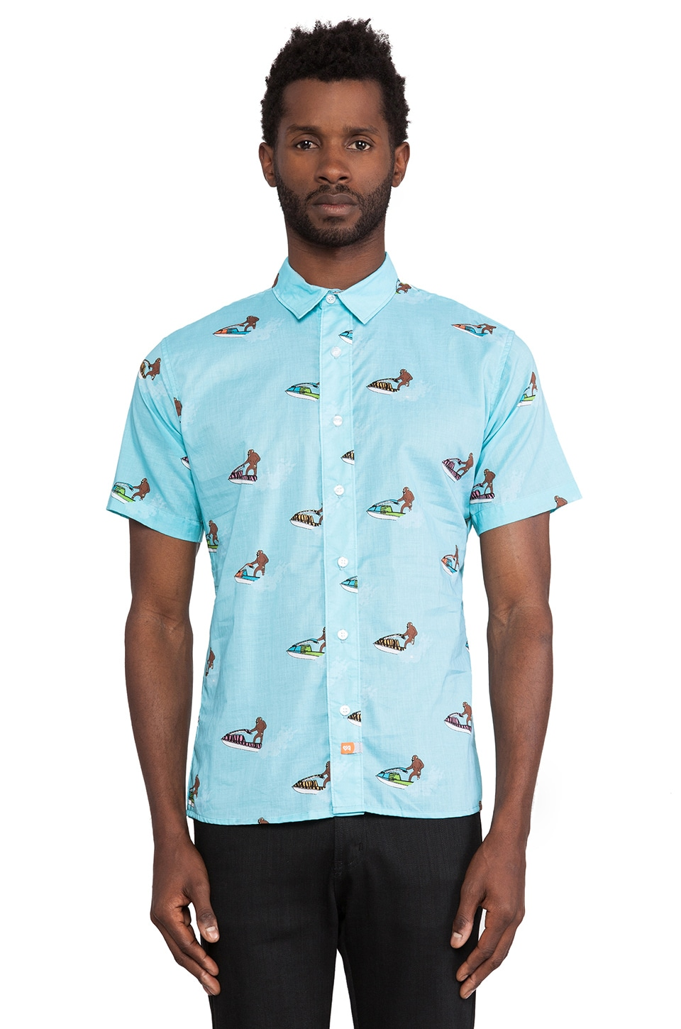 Ambsn Melly Shirt in Baby Blue