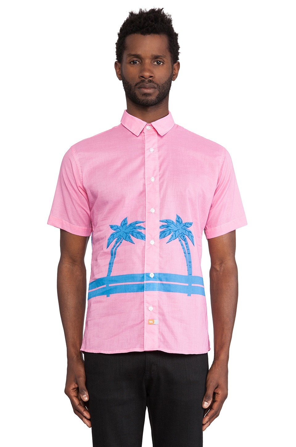 Ambsn Palms Shirt in Pink