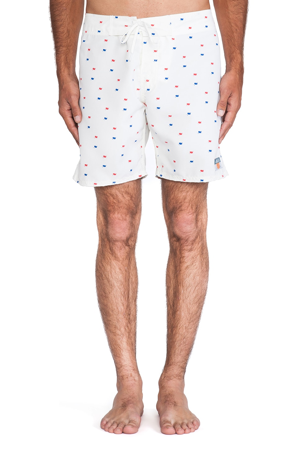 Ambsn Revolution Boardshort in Cream