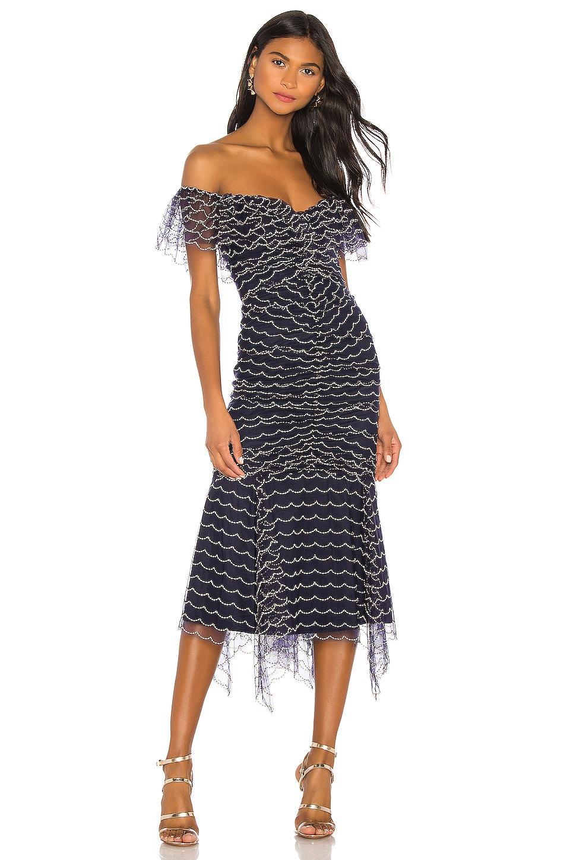 Alice McCall Valentine Midi Dress in Indigo