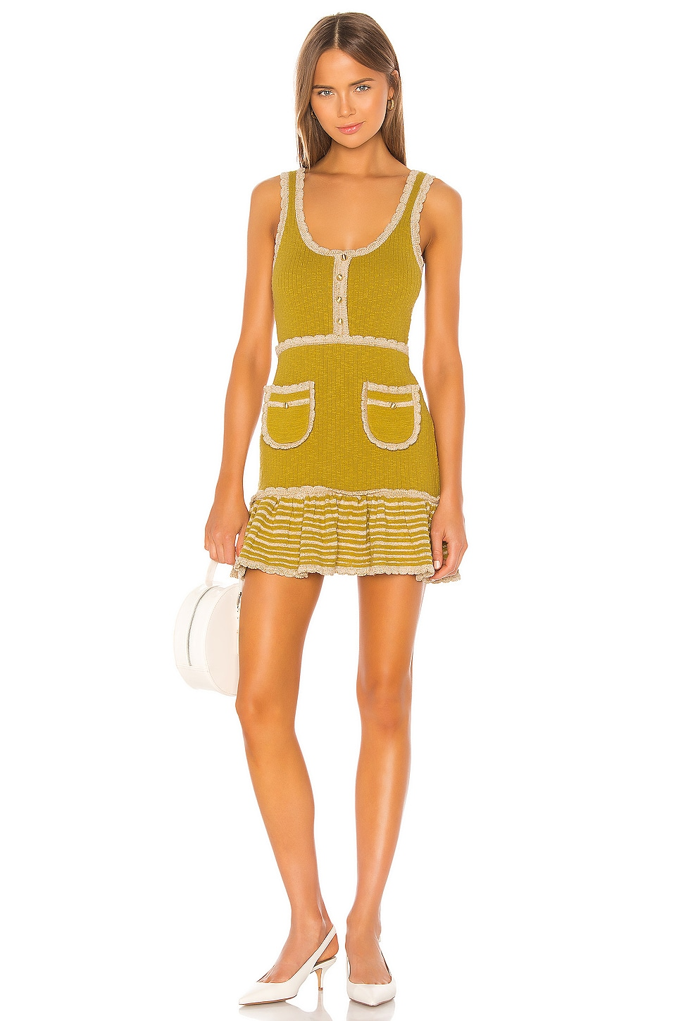 Alice McCall Heaven Help Mini Dress in Tigers Eye