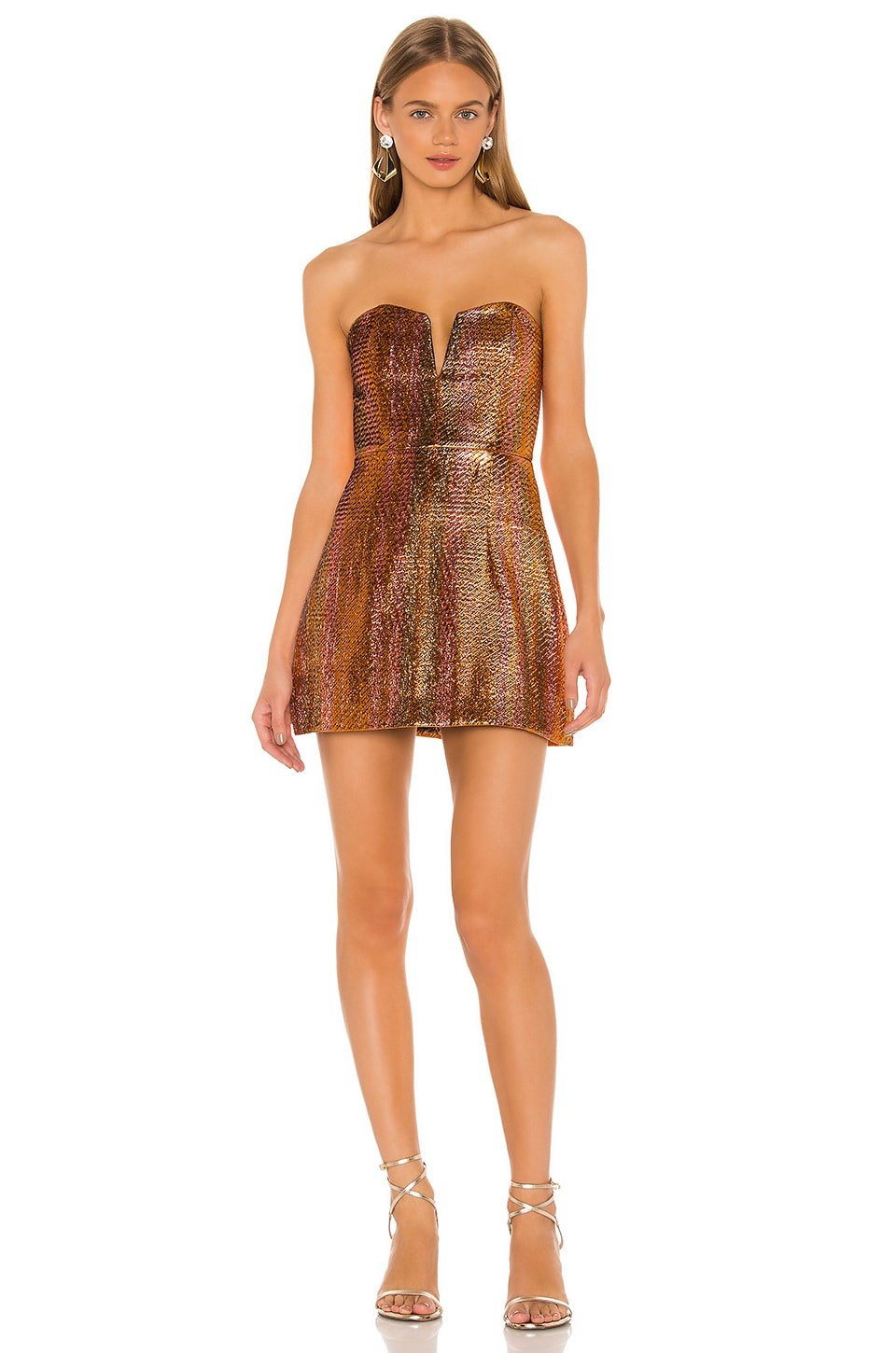 Alice McCall Electric Nights Mini Dress in Copper