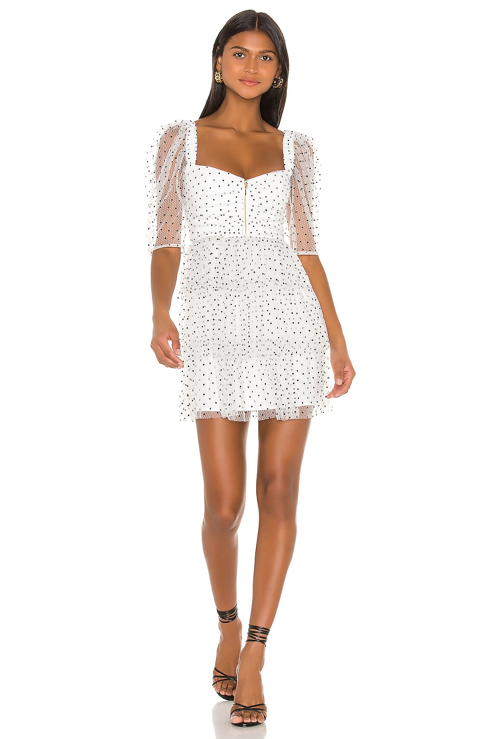 Alice McCall Mysteria Mini Dress in Porcelain