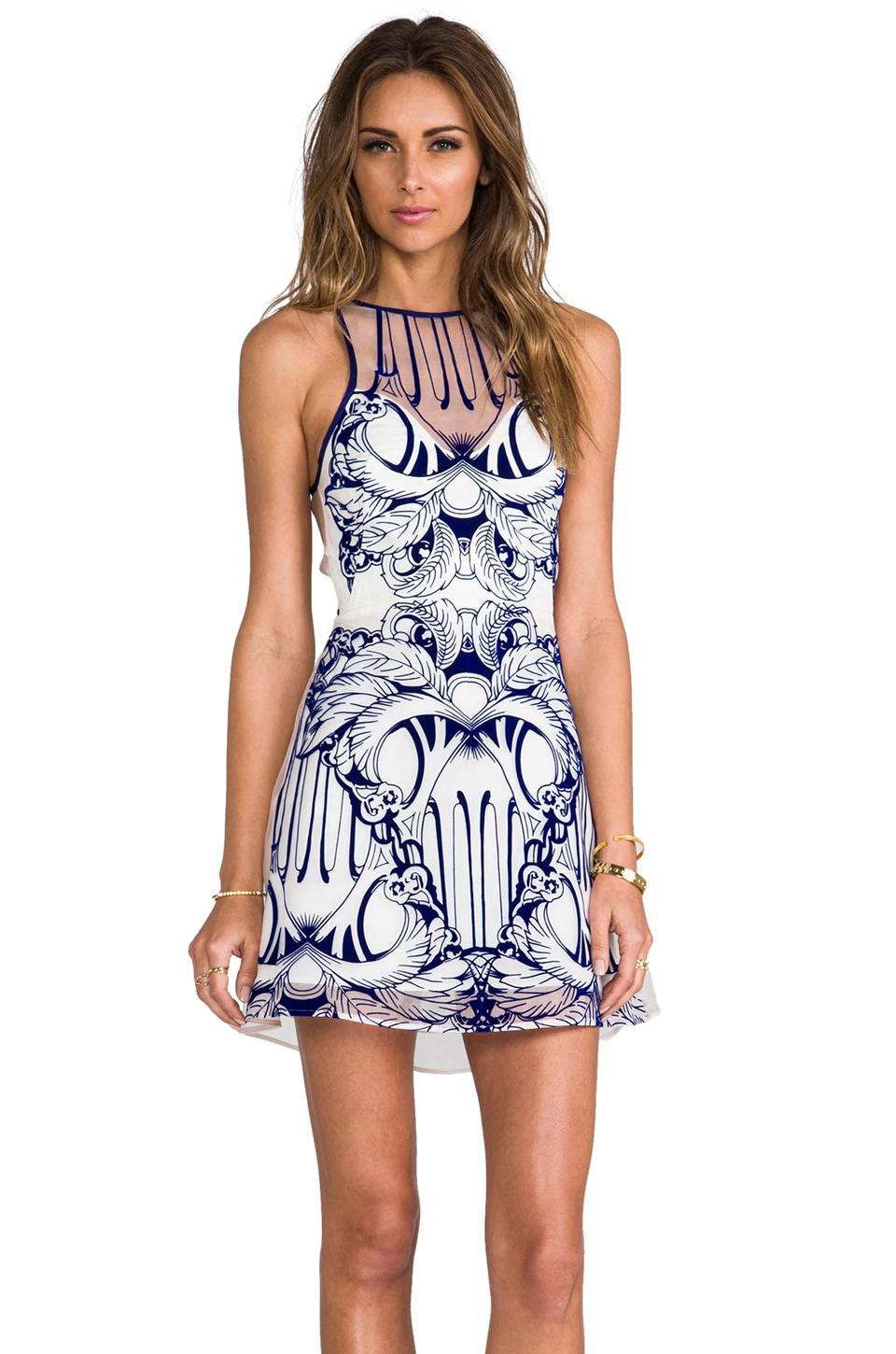Alice McCall Tied to the Rocks Dress in Flocked Combs