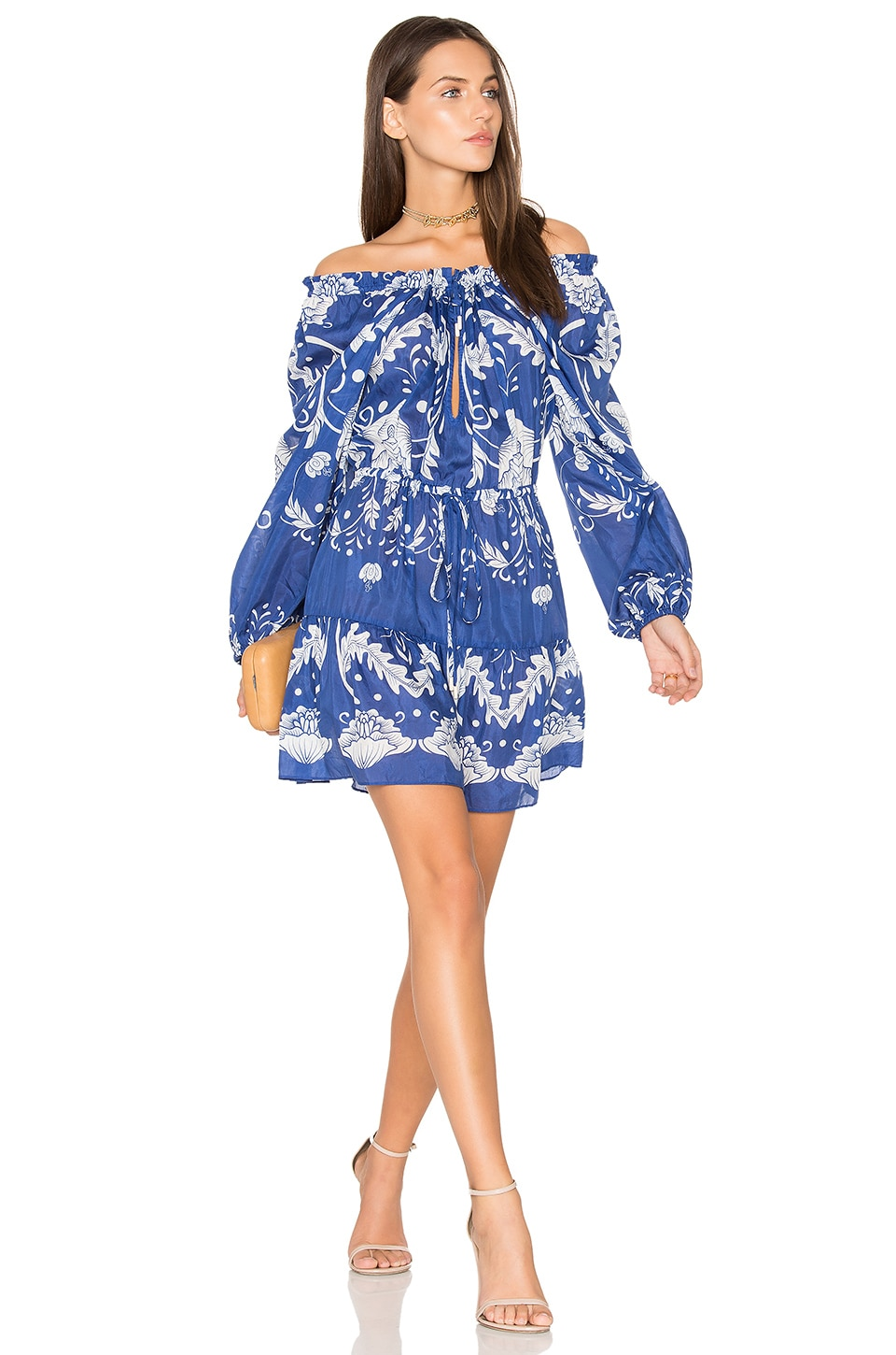 Alice McCall Cant Do Without You Mini Dress in Cobalt Bloom