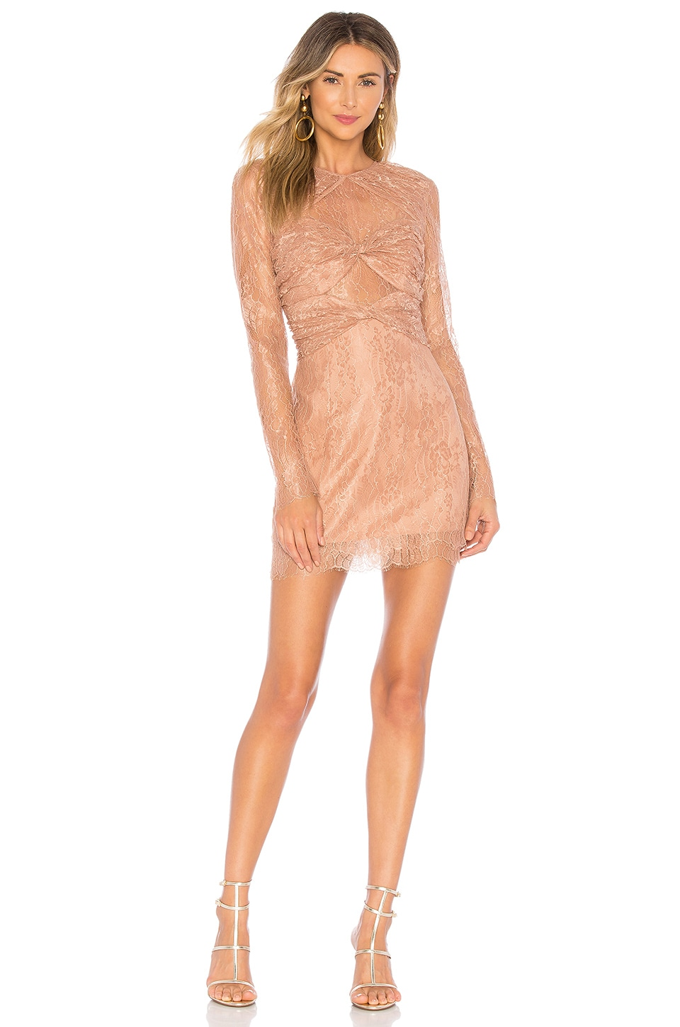 Alice McCall Not Your Girl Dress in Cinnamon