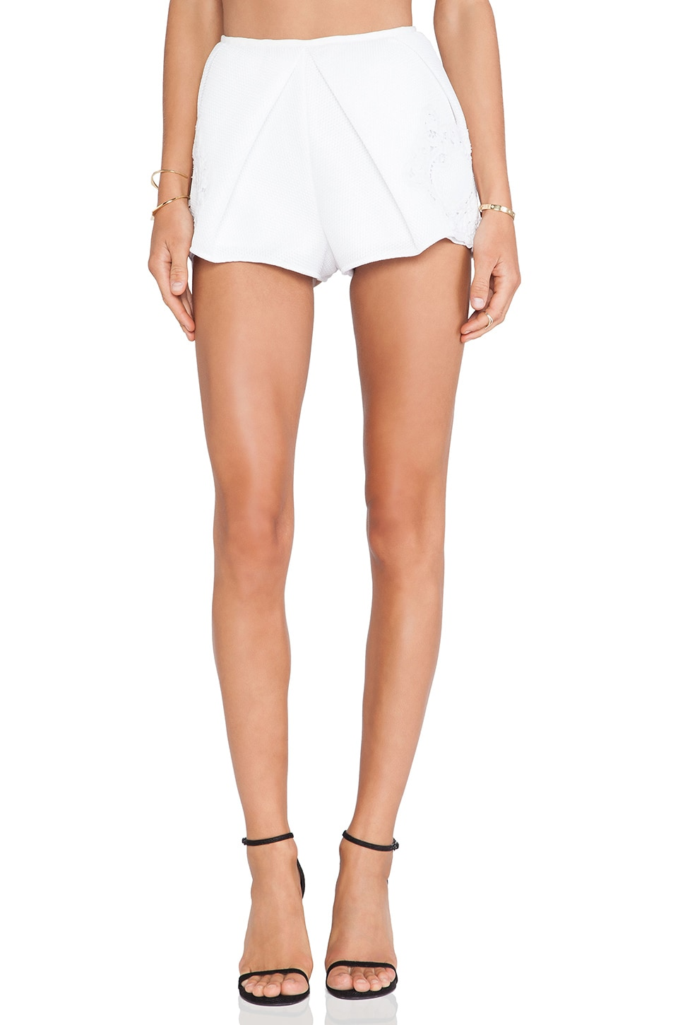 Alice McCall Curl Up Short in Porcelain