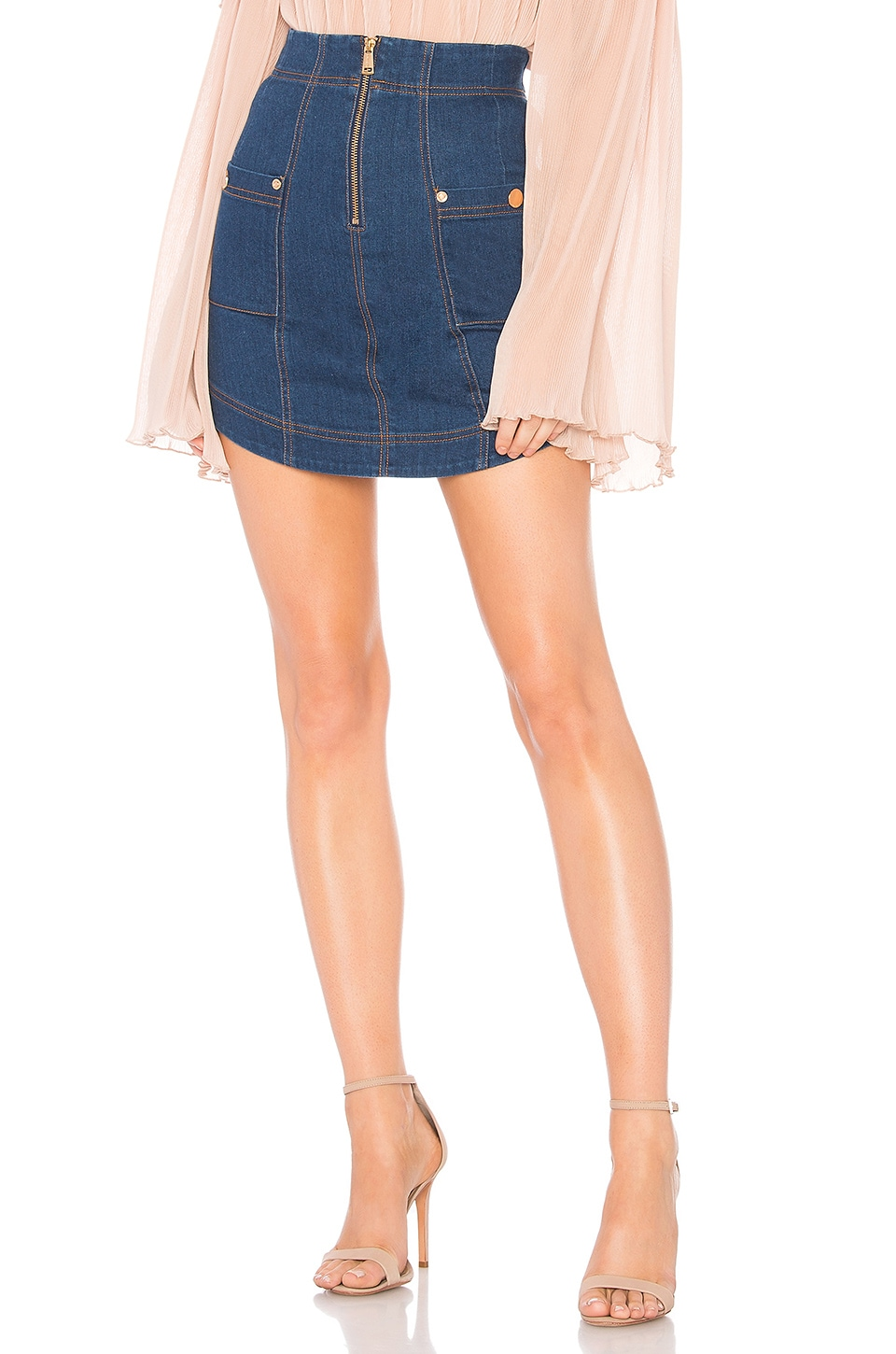 Alice McCall Thinking About You Skirt in Indigo