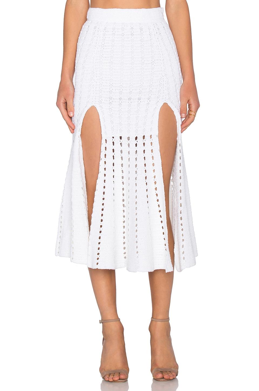 Alice McCall Higher Ground Skirt in White
