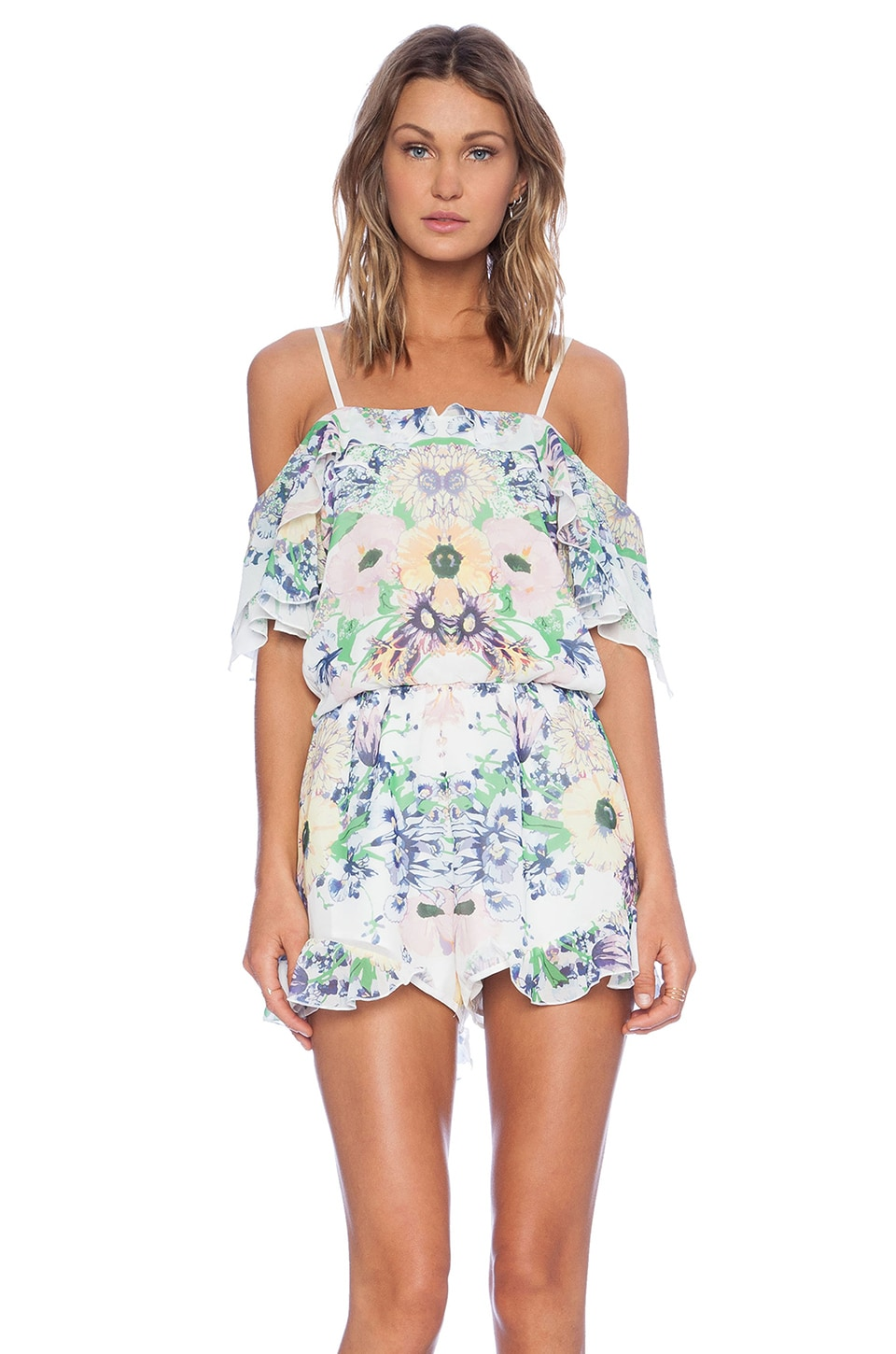 Alice McCall Tuberose Playsuit in Forget Me Not