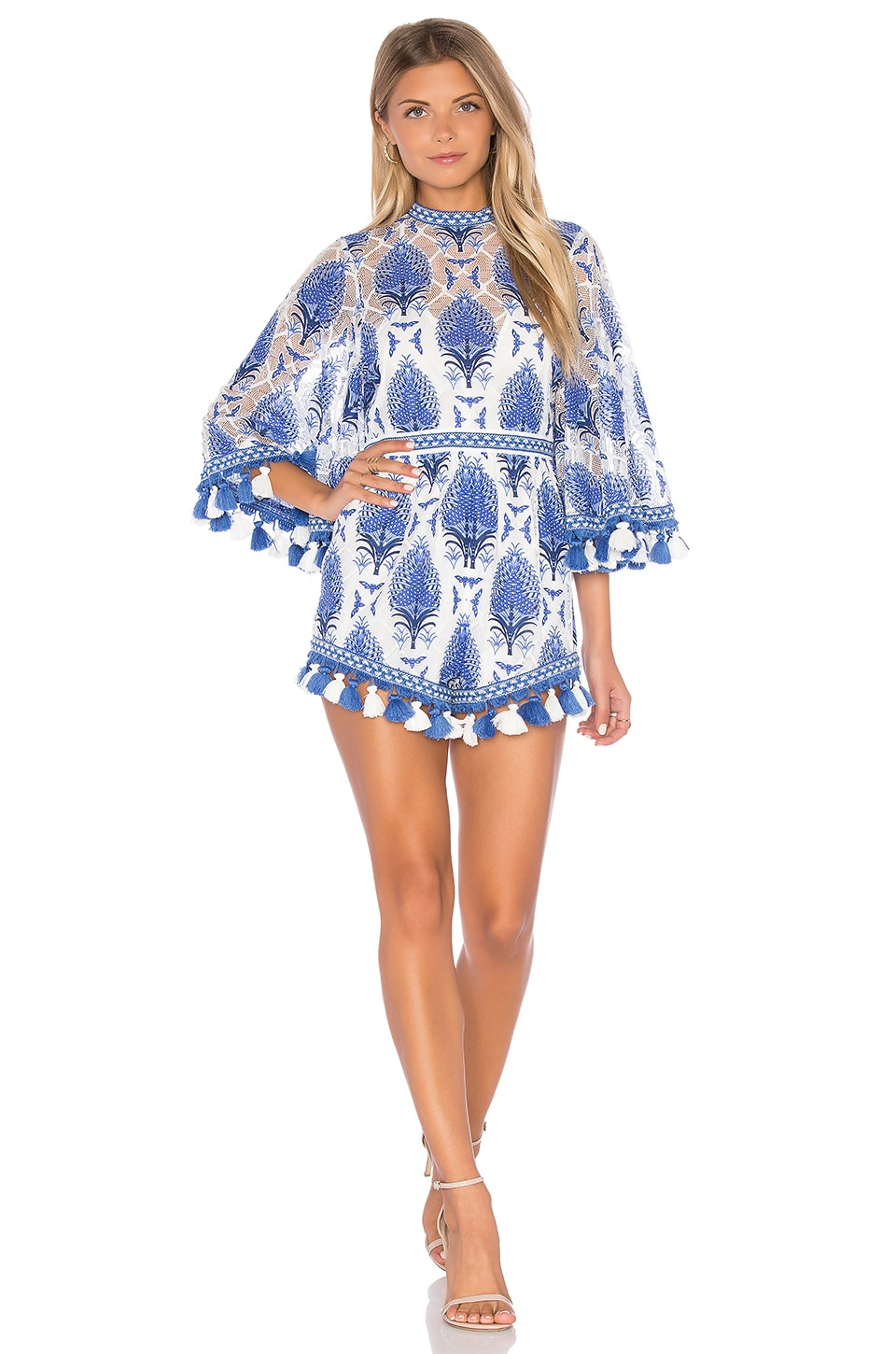 Alice McCall Young Hearts Run Free Romper in Blue