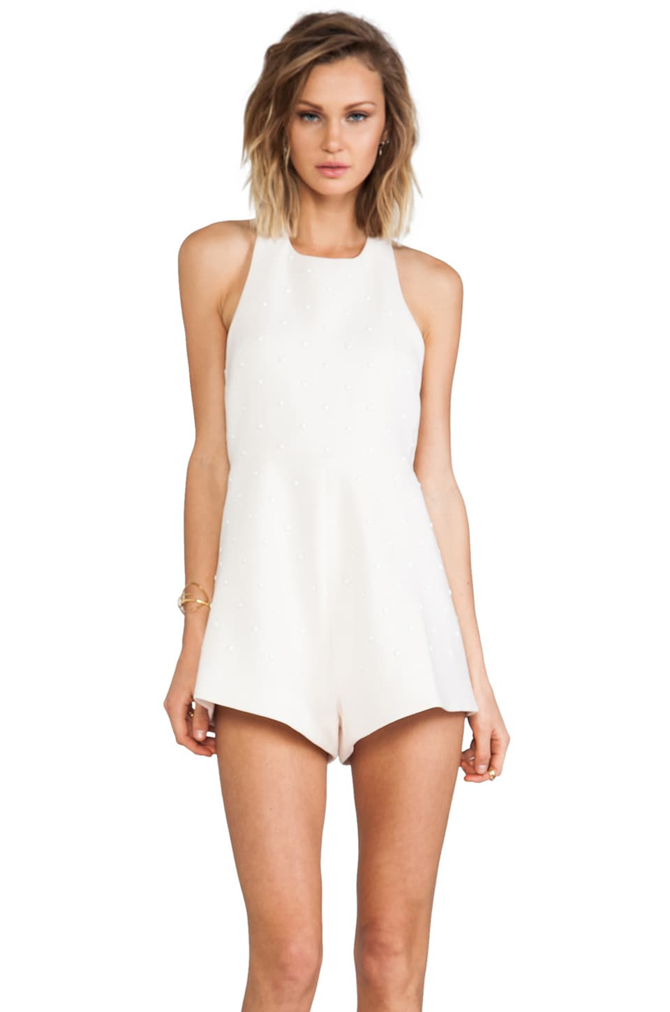 Alice McCall Water Spirits Playsuit in White Sands