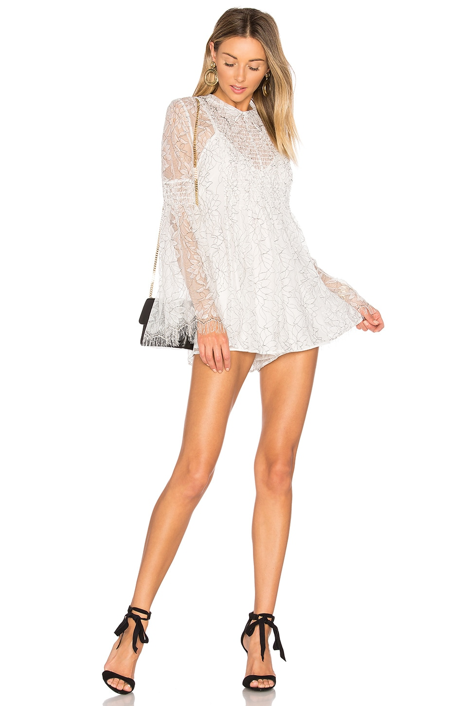 420d3b9015 Alice McCall Hands To Myself Playsuit in White