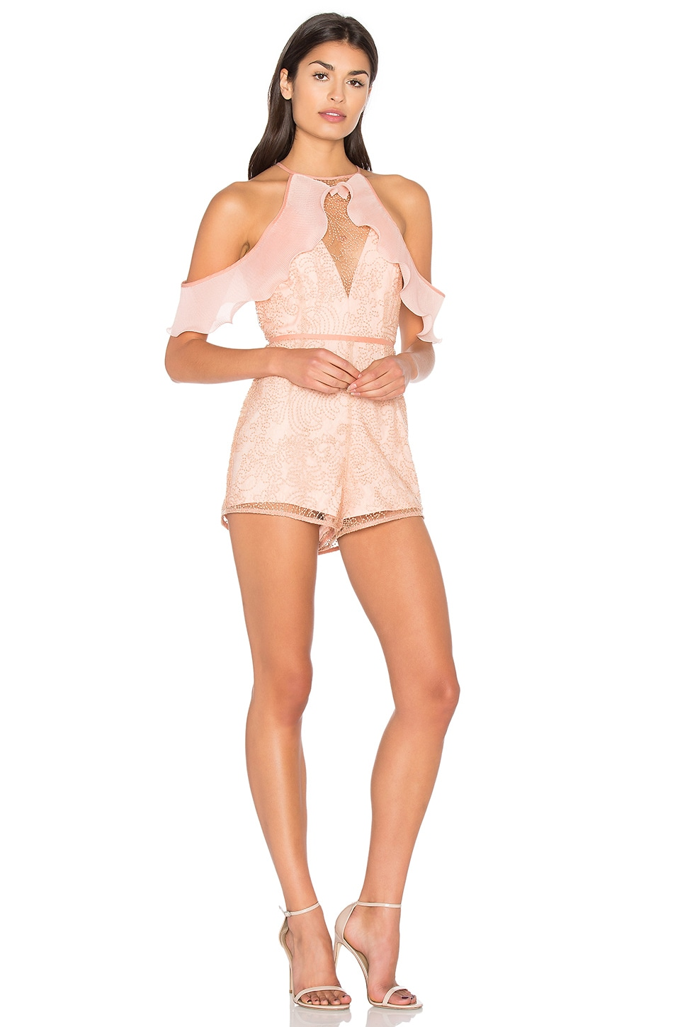 Alice McCall Your Disco Needs You Playsuit in Amber