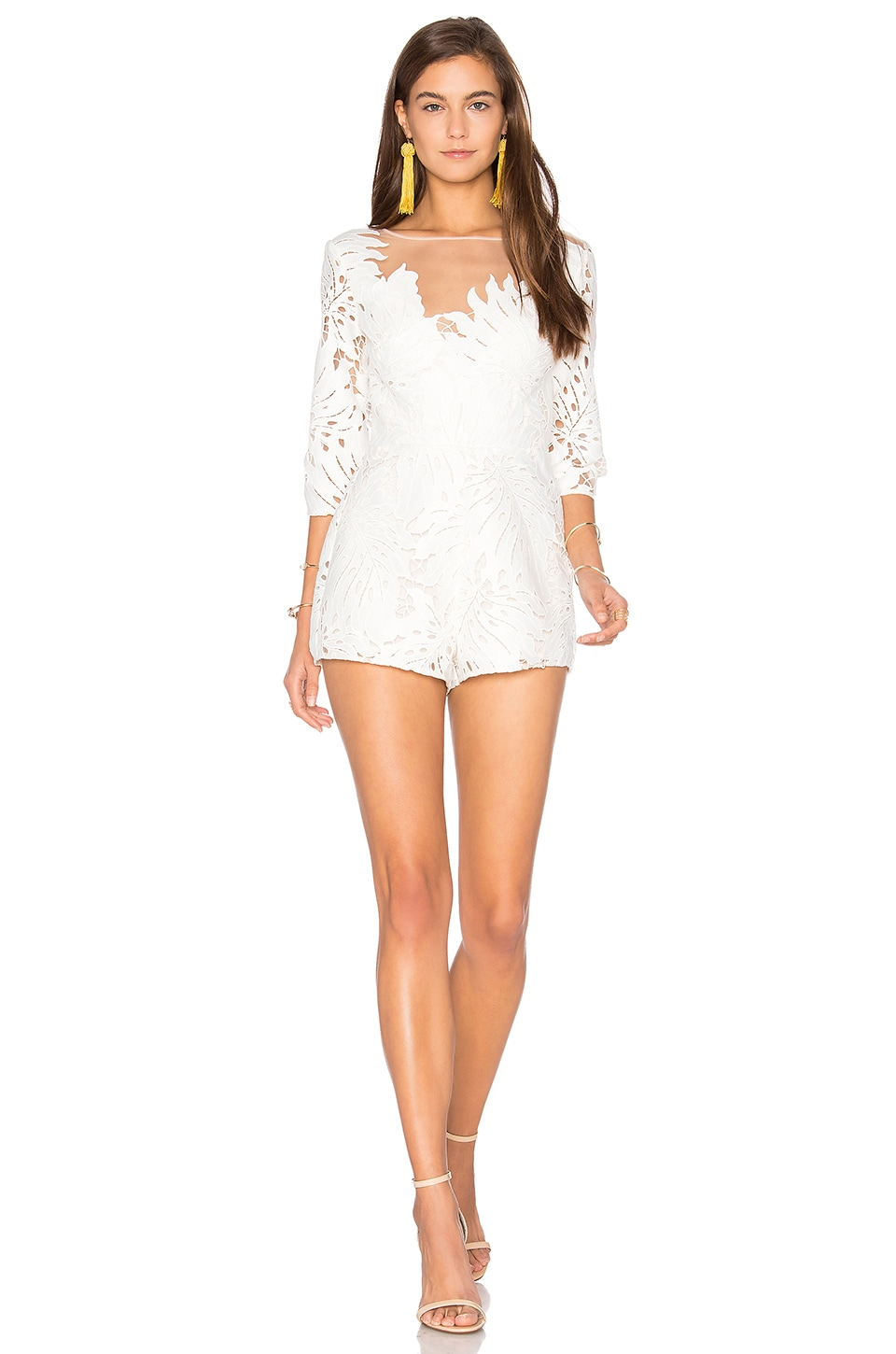 906932bcdbf Alice McCall Rumours Playsuit in White