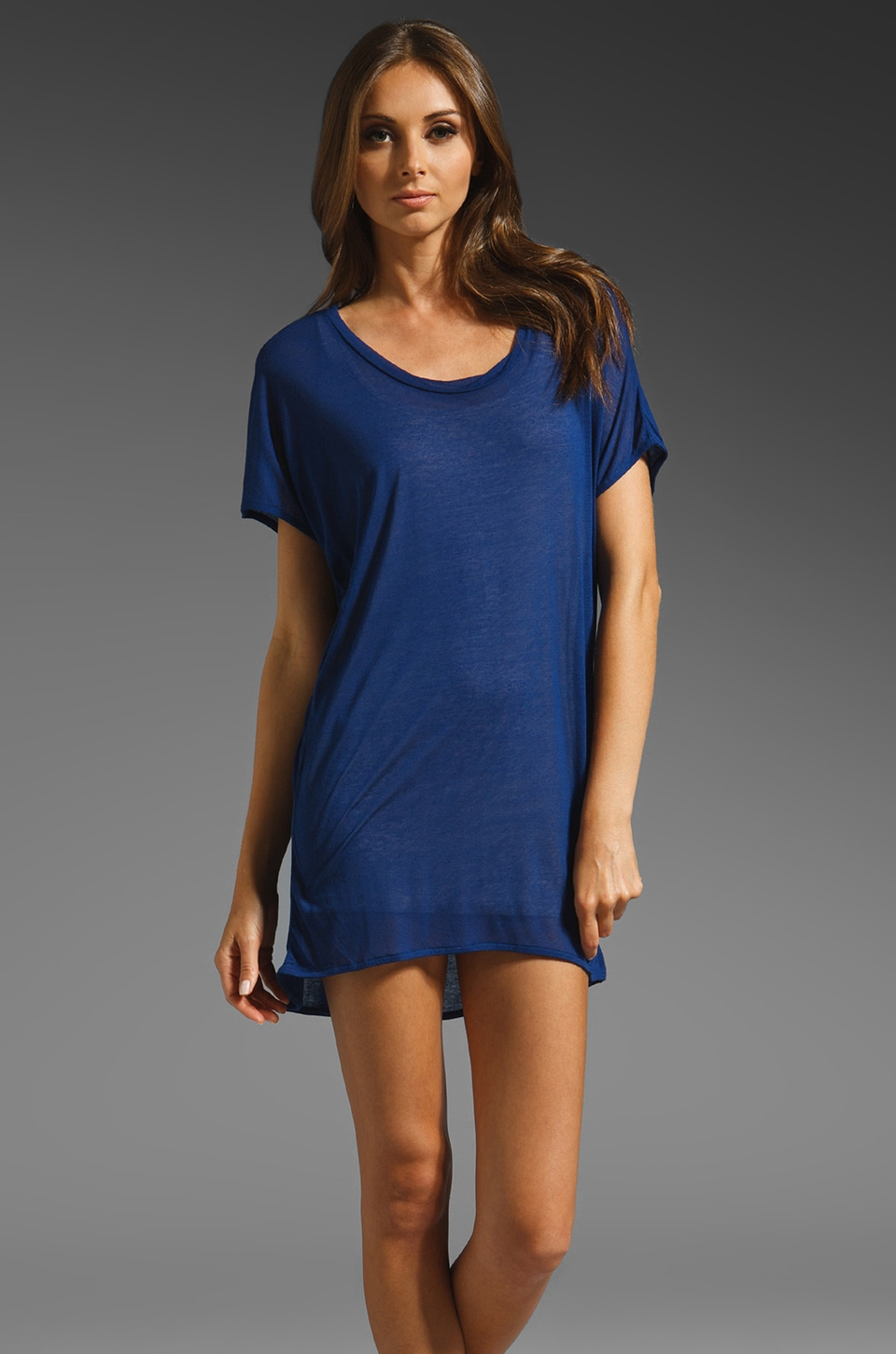American Vintage Cape Canaveral T Shirt Dress in Electric Blue