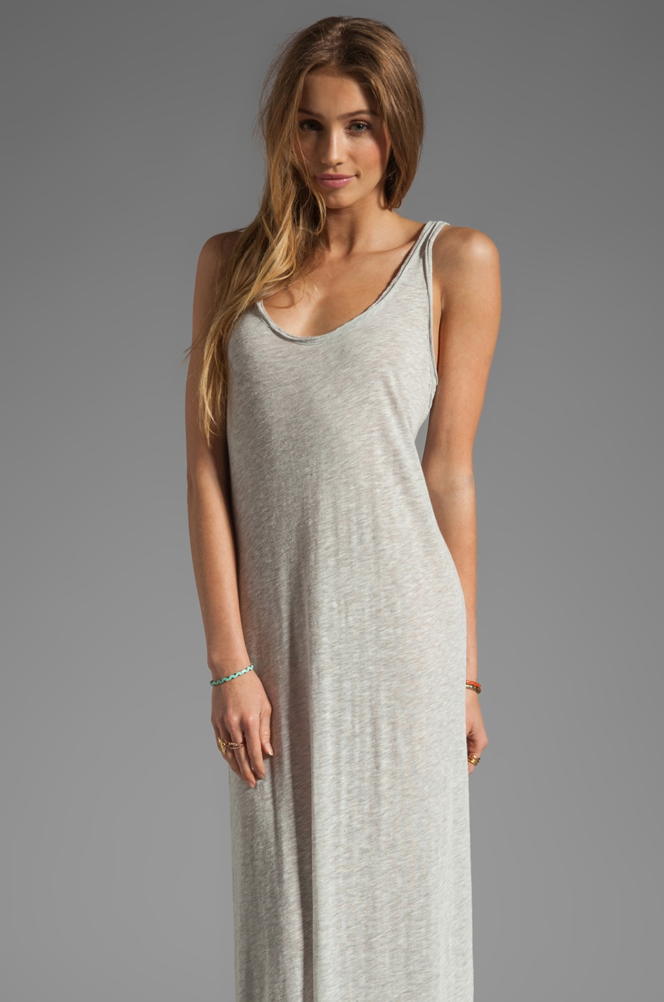 American Vintage Shawano Tank Dress in Heather Grey