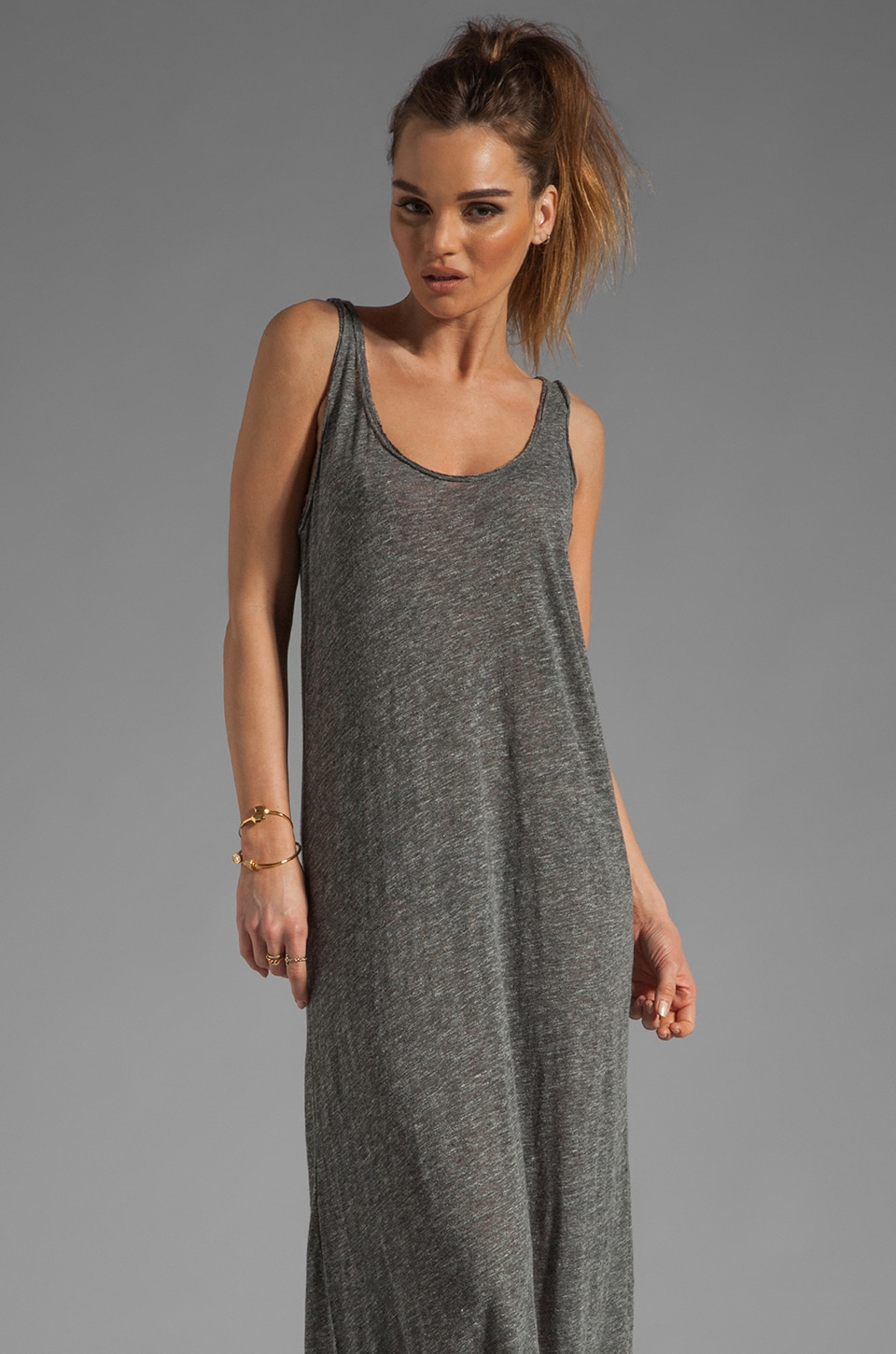 American Vintage Shawano Tank Dress in Charcoal Melange