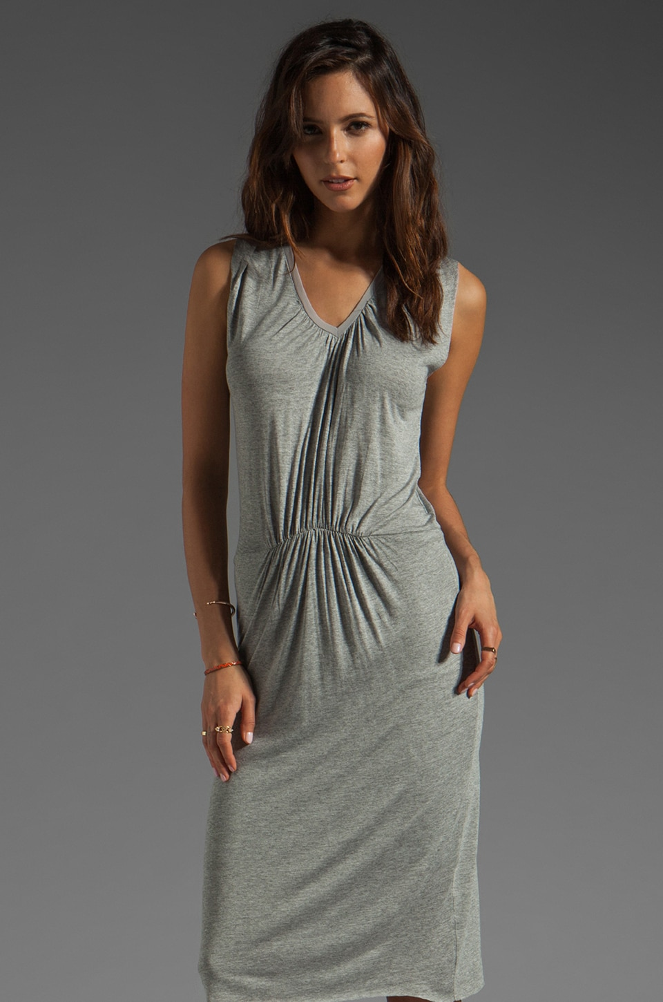 American Vintage Rilato Dress in Heather Grey