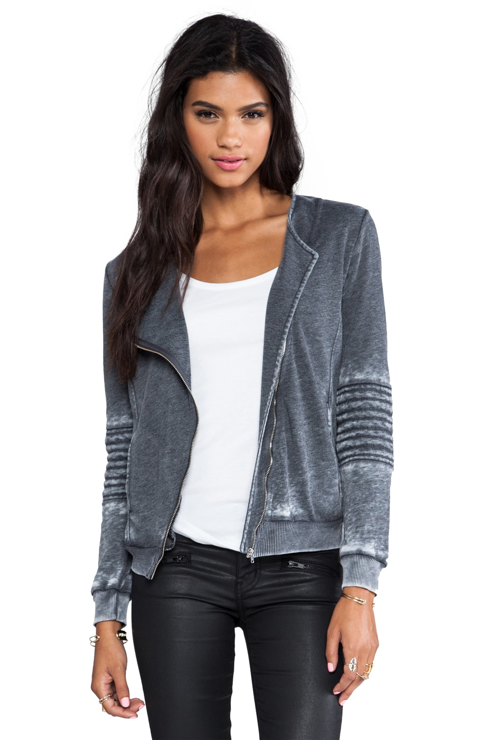 American Vintage Rexburg Zipped Jacket in Carbon Melange