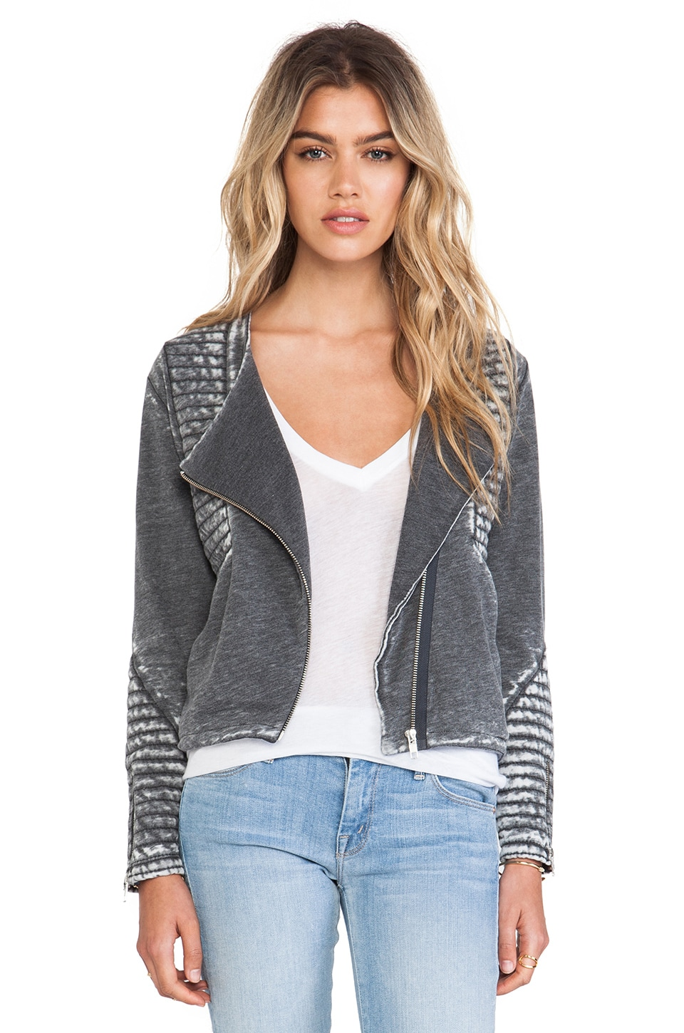 American Vintage Rexburg Zipped Jacket in Carbon